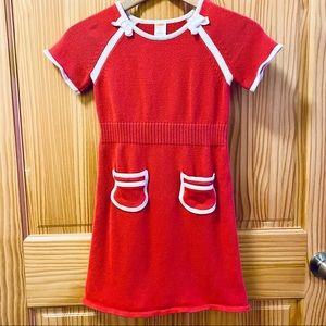 Gymboree short sleeve red cotton sweater dress